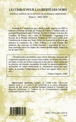 4eme Le combat pour la liberté des noirs dans le Journal de la Société de la Morale Chrétienne
