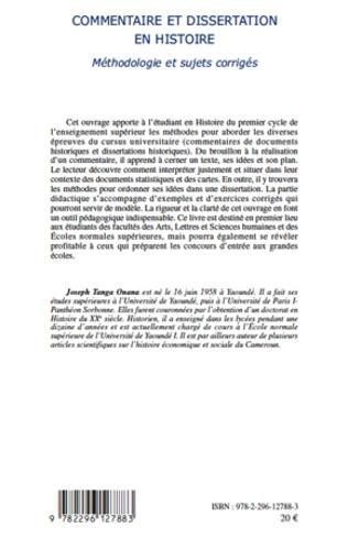 4eme Commentaire et dissertation en histoire