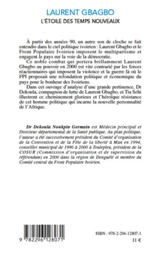4eme Laurent Gbagbo l'étoile des temps nouveaux