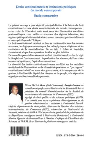 4eme Droits constitutionnels et institutions politiques du monde
