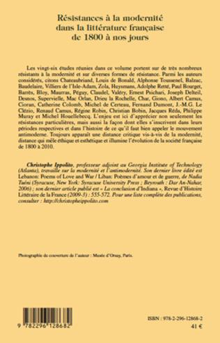 4eme Résistances à la modernité dans la littérature française de 1800 à nos jours
