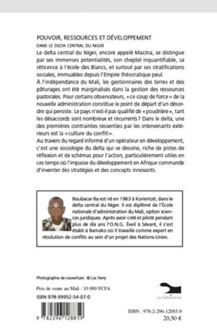 4eme Pouvoir, ressources et développement dans le delta central d