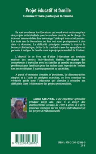 Projet Educatif Et Famille Comment Faire Participer La