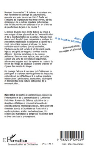 4eme Adorno et les industries culturelles