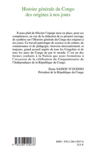 4eme Histoire générale du Congo des origines à nos jours (tome 1)