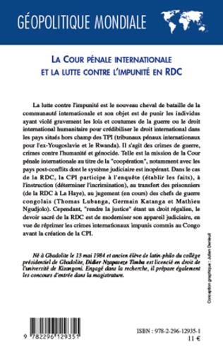 4eme La cour pénale internationale et la lutte contre l'impunité en RDC