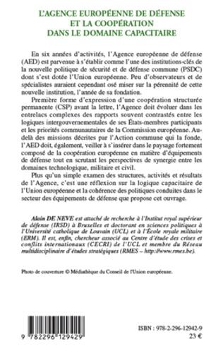 4eme L'Agence européenne de défense et la coopération dans le domaine capacitaire