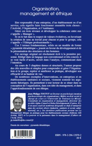 4eme Organisation, management et éthique