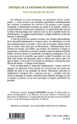 4eme Critique de la rationalité administrative