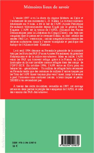 4eme La première guerre du Congo-Zaïre (1996-1997)