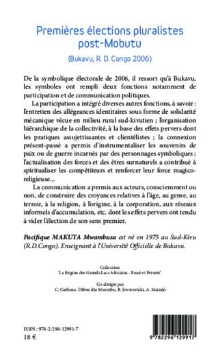4eme Premières élections pluralistes post-Mobutu