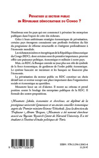 4eme Privatiser le secteur public en république démocratique du Congo