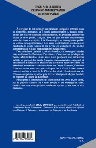 4eme Essai sur la notion de bonne administration en droit public