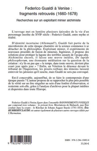 4eme Federico Gualdi à Venise : fragments retrouvés (1660-1678)