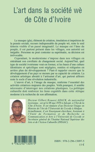 4eme L'art dans la société wè de Côte d'Ivoire