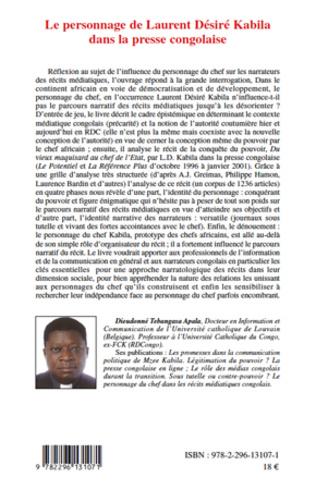 4eme Le personnage de Laurent Désiré Kabila dans la presse congolaise