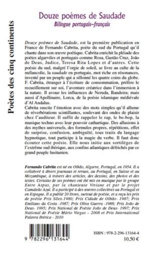 4eme Douze poèmes de Saudade