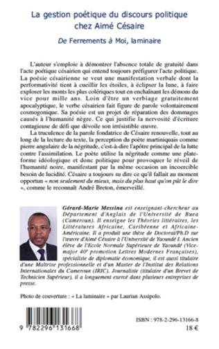 4eme La gestion poétique du discours politique chez Aimé Césaire