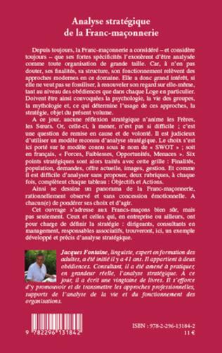 4eme Analyse stratégique de la Franc-maçonnerie
