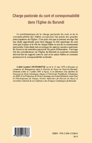 4eme Charge pastorale du curé et coresponsabilité dans l'Eglise du Burundi