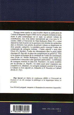 4eme Le syntagme nominal en latin