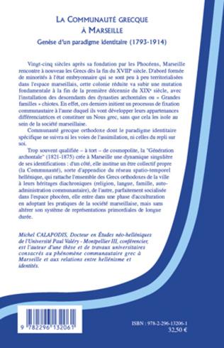 4eme La Communauté grecque à Marseille