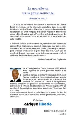4eme La nouvelle loi sur la presse ivoirienne