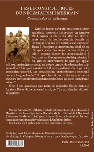 4eme Les leçons politiques du néozapatisme mexicain