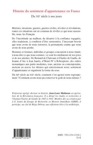 4eme Histoire du sentiment d'appartenance en France
