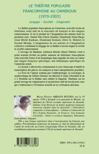 4eme Le théâtre populaire francophone au Cameroun