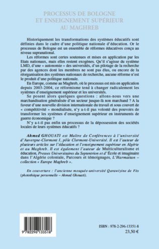4eme Processus de Bologne et enseignement supérieur au Maghreb