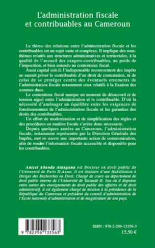 4eme L'administration fiscale et contribuables au Cameroun