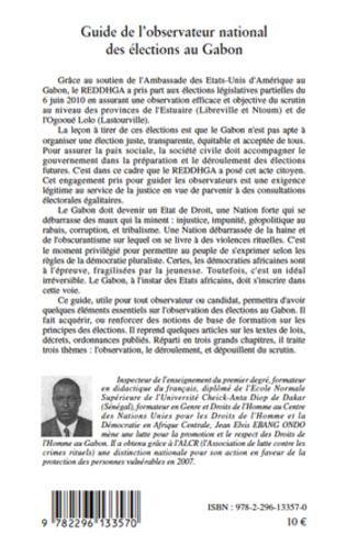 4eme Guide de l'observatoire national des élections au Gabon