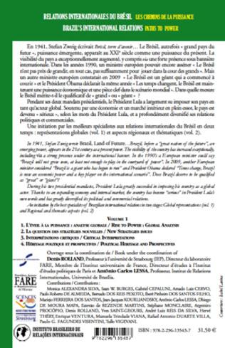 4eme Relations internationales du Brésil, Les chemins de la Puissance (Volume I)