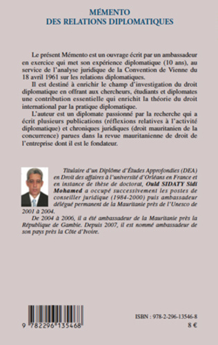 4eme Mémento des relations diplomatiques