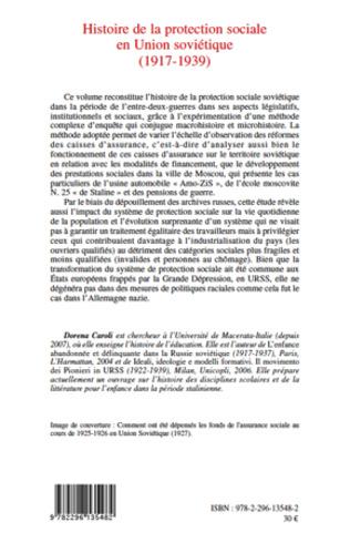 4eme Histoire de la protection sociale en Union soviétique (1917-1939)