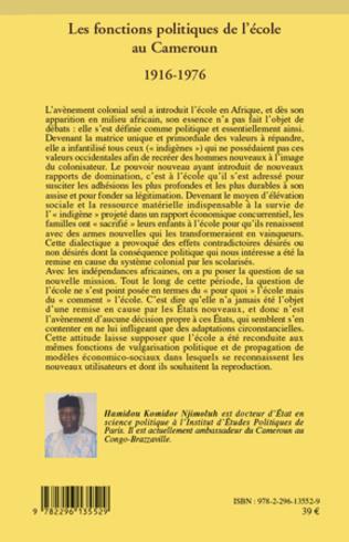 4eme Les fonctions politiques de l'école au Cameroun