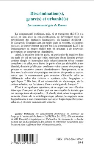 4eme Discrimination(s), genre(s) et urbanité(s)