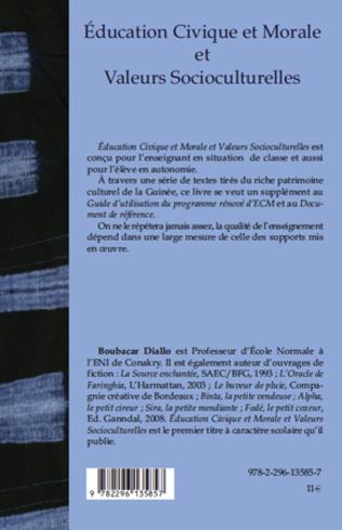 4eme Education Civique et Morale et Valeurs Socioculturelles