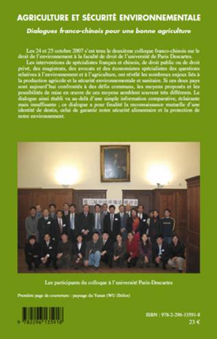 4eme Agriculture et sécurité environnementale : vaste programme…