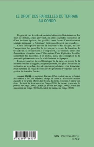 4eme Le droit des parcelles de terrain au Congo (Tome 1)