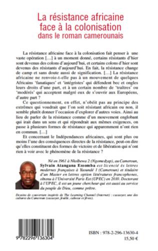 4eme La résistance africaine face à la colonisation dans le roman camerounais