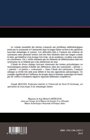 4eme Synonymie et antonymie en latin