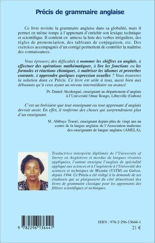 Precis De Grammaire Anglaise Livre Ebook Epub