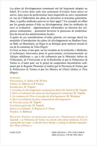 4eme Suivi et évaluation des plans de développement communal au Sahel