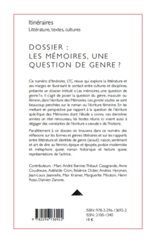 4eme Les mémoires, une question de genre ?