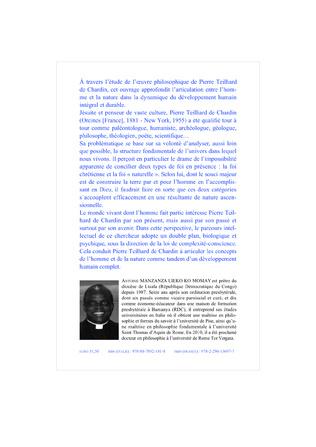 4eme PIERRE TEILHARD DE CHARDIN ET LA CONNAISSANCE SCIENTIFIQUE DU DEVELOPPEMENT