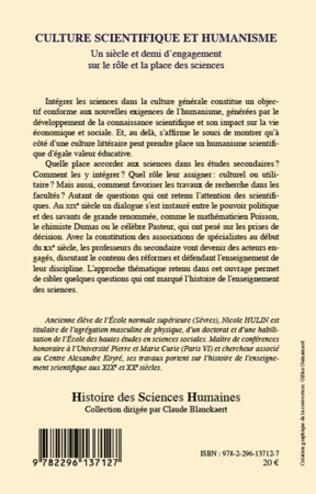 4eme Culture scientifique et humanisme