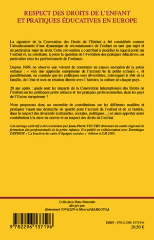 4eme Respect des droits de l'enfant et pratiques éducatives en Europe