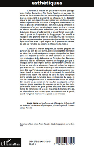 4eme Temps, récit et transmission chez W. Benjamin et P.P. Pasolini
